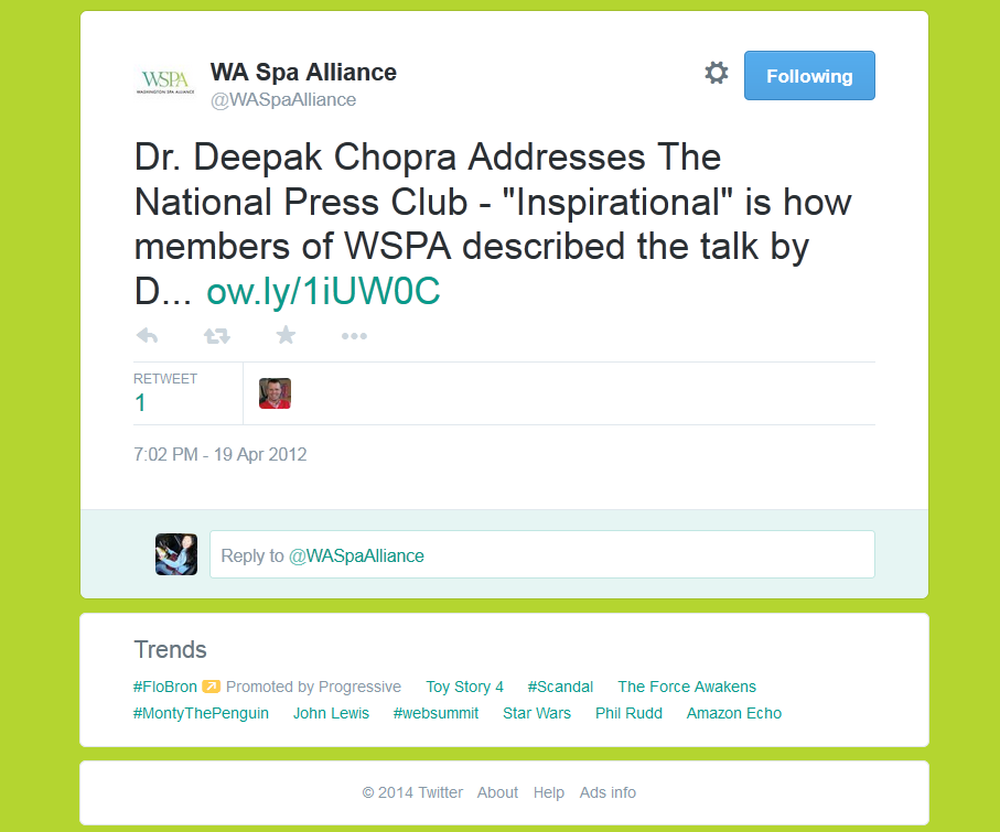 Twitter - Washington Spa Alliance
